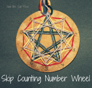 skip counting number wheel 4